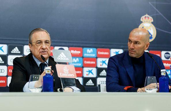 Florentino Perez and Zinedine Zidane