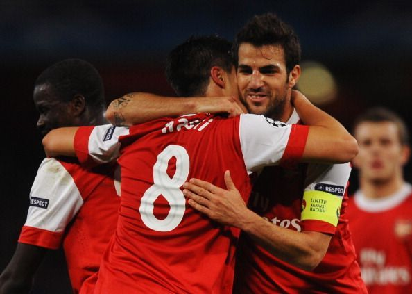 Nasri and Fabregas formed a deadly duo at Arsenal