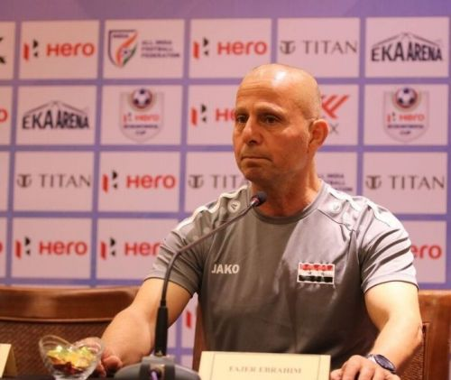 Syria head coach Fajer Ebrahim