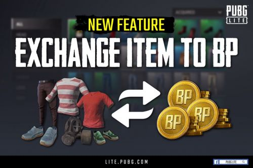 PUBG Lite Exchange Feature