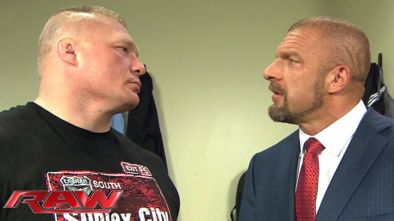 Triple H and Brock Lesnar