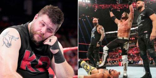 Kevin Owens; The Club, AJ Styles and Ricochet