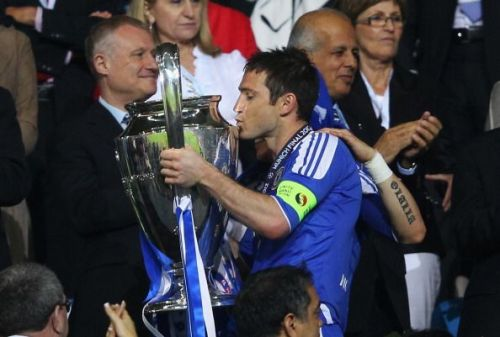 Frank Lampard wore the armband on the night Chelsea lifted the Champions League