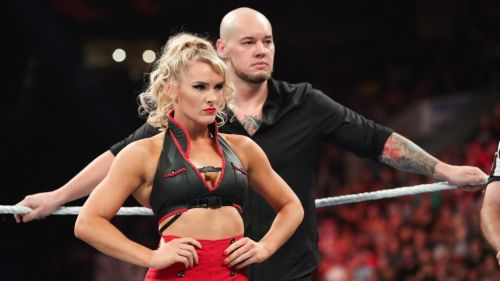 Lacey Evans teamed with Baron Corbin at Extreme Rules