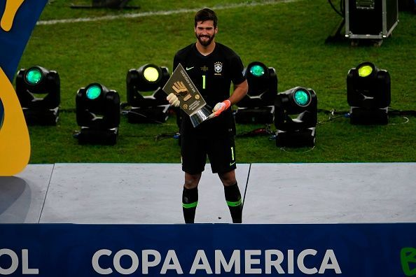 Alisson won his third Golden Glove of the year at the 2019 Copa America
