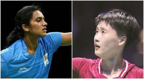 PV Sindhu (left) and Chen Yufei