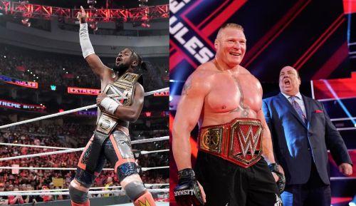 Kofi Kingston and Brock Lesnar