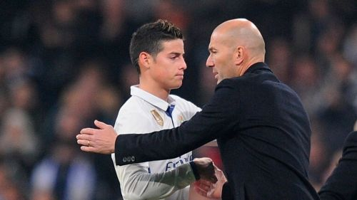 Zinedine Zidane and James Rodriguez