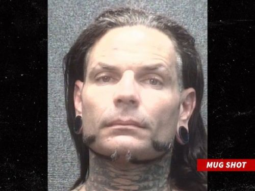 Jeff Hardy's mugshot, posted shortly after his arrest on Saturday afternoon.