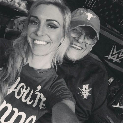 Charlotte Flair with late great WWE Hall of Famer Dusty Rhodes