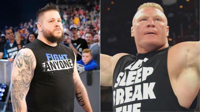 Kevin Owens and Brock Lesnar are yet to meet on WWE TV