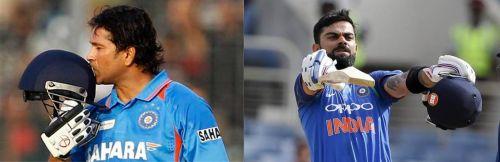 Virat Kohli has carried Sachin Tendulkar's legacy forward in ODI cricket