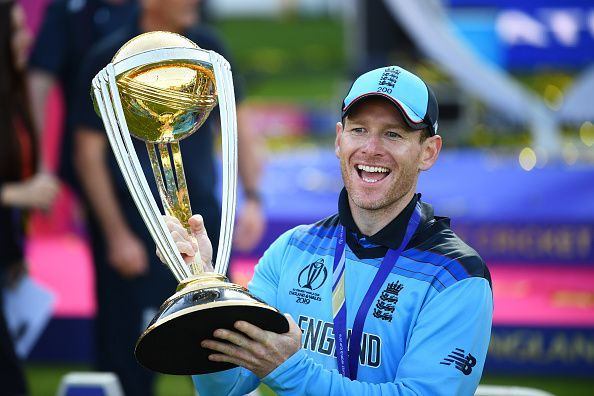 Eoin Morgan became the first captain to lead England to a World Cup win