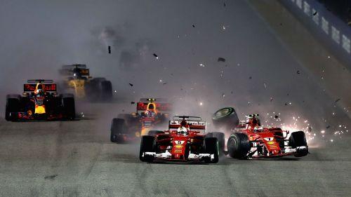 The Singapore crash with Verstappen and Raikkonen derailed his 2017 campaign