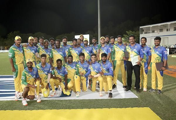 Team Lyca Kovai Kings after their victory against Ruby Trichy Warriors
