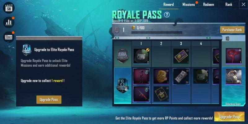 Pubg News Pubg Mobile Season 08 Royale Rewards Revealed Claim Free