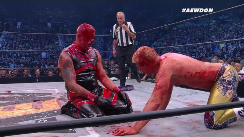 AEW does not shy away from violence and blood