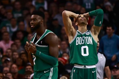 Jayson Tatum and Jaylen Brown have been linked with a trade from the Celtics.