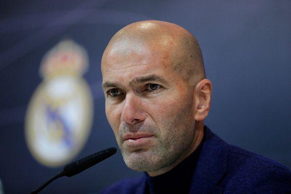 Real Madrid manager, Zinedine Zidane
