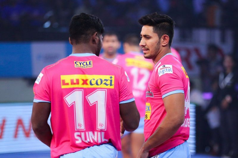 Sandeep Dhull and Sunil Siddhagavali will lead the defense of Jaipur Pink Panthers in PKL 7