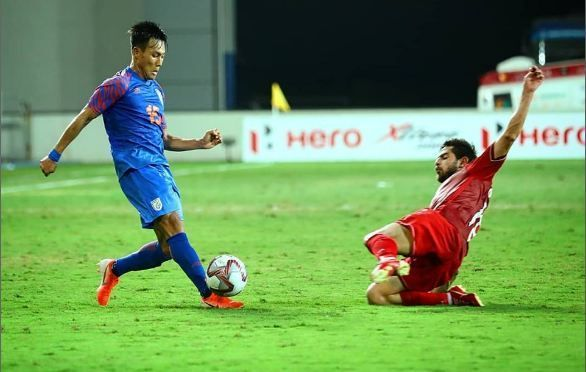 India battled hard to get a point against Syria (Image Courtesy: AIFF)