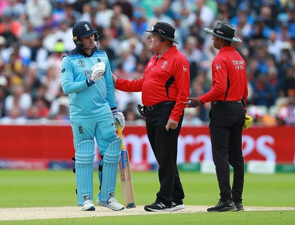 Jason Roy lost his wicket due to an umpiring howler
