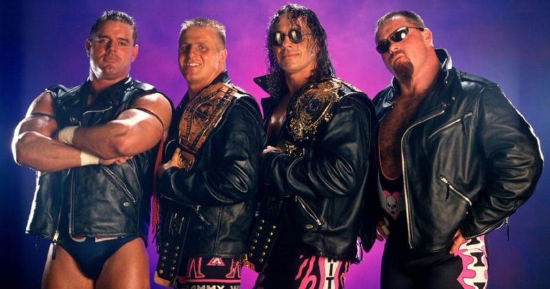 The Hart Foundation dominated WWF in 1997 and were also comprised of real-life family members.
