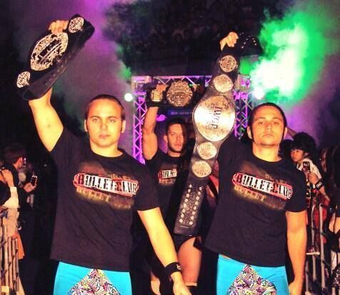 The Young Bucks with Prince Devitt (middle)