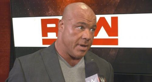 Kurt Angle's last match in WWE was against Baron Corbin