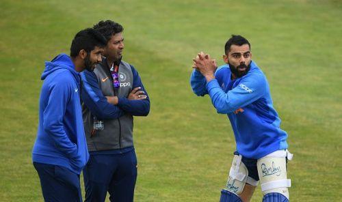 Virat Kohli during a training session