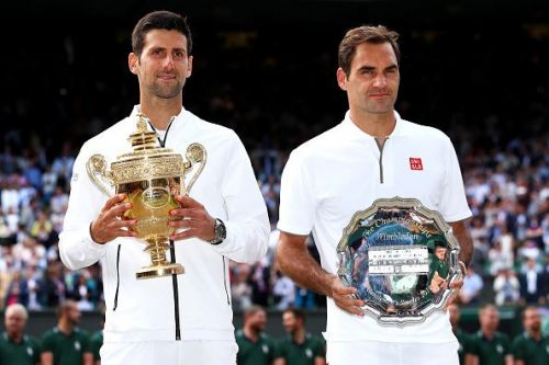 Novak Djokovic beat Roger Federer in a titanic tussle that lasted nearly five hours.