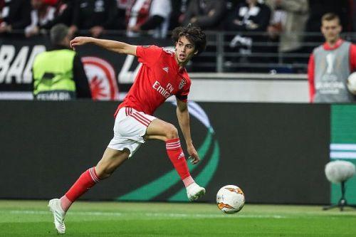 Joao Felix in action in the Europa League.