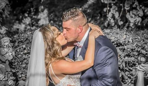 Brian Cage and Melissa Santos are now husband and wife. The beautiful wedding ceremony took place yesterday.