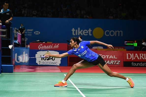 PV Sindhu in action at the Indonesia Open.