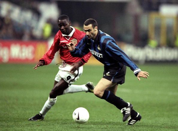 Giuseppe Bergomi and Andy Cole