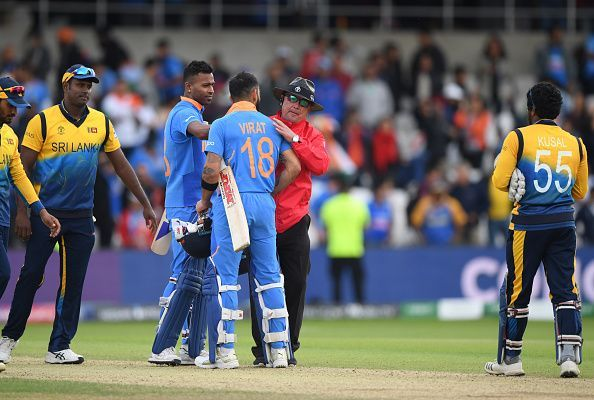 भारत ने श्रीलंका को हराया