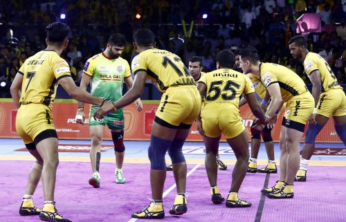 Patna Pirates thrashed Telugu Titans to win their first encounter of the PKL 2019