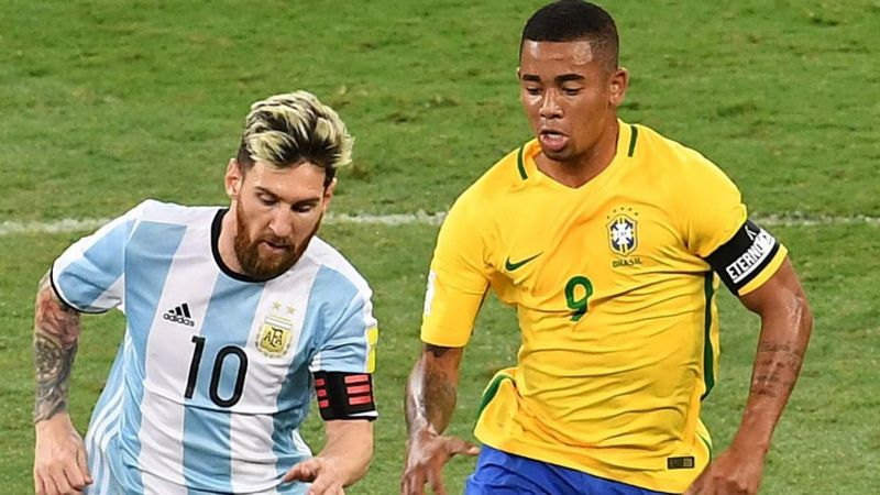 Gabriel Jesus is aware of Messi and Aguero