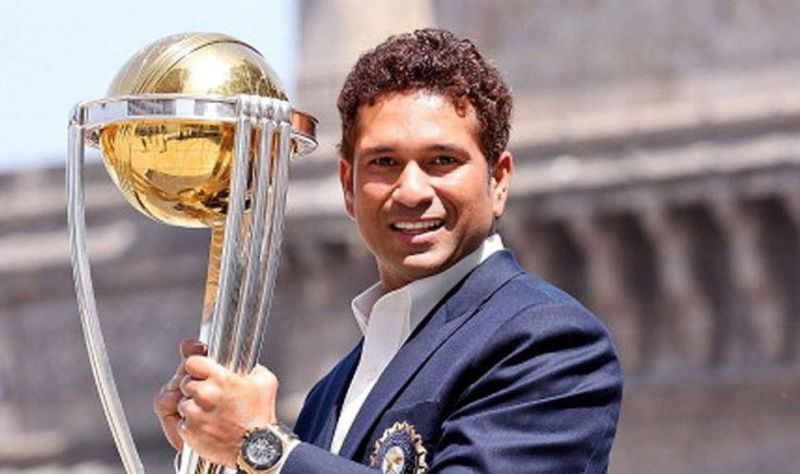 Sachin Tendulkar has scored over 2000 runs in World Cup cricket Sourav Ganguly of India on his way to a century