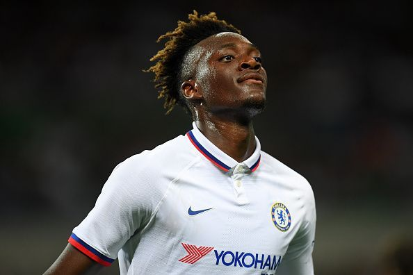 Abraham scored in the last game for Chelsea against Barcelona