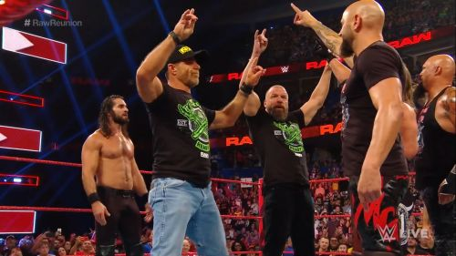 The OC tried to get on DX's good side but failed miserably and the segment ended with the legends taking over the ring