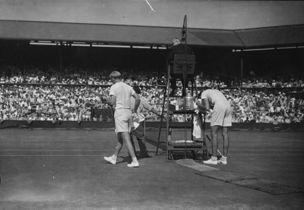 Falkenburg saved match points en route to beating Bromwich in the 1948 Wimbledon final