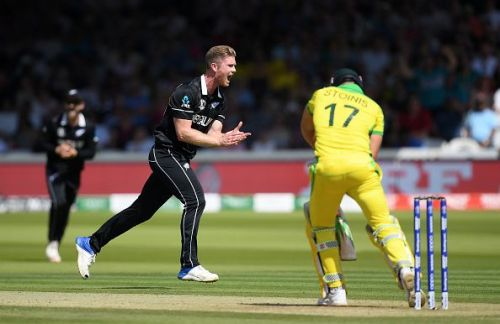 Marcus Stoinis batting against New Zealand