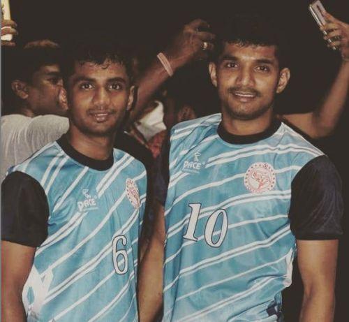 Madane brothers - Krushna (left), Nitin (right)
