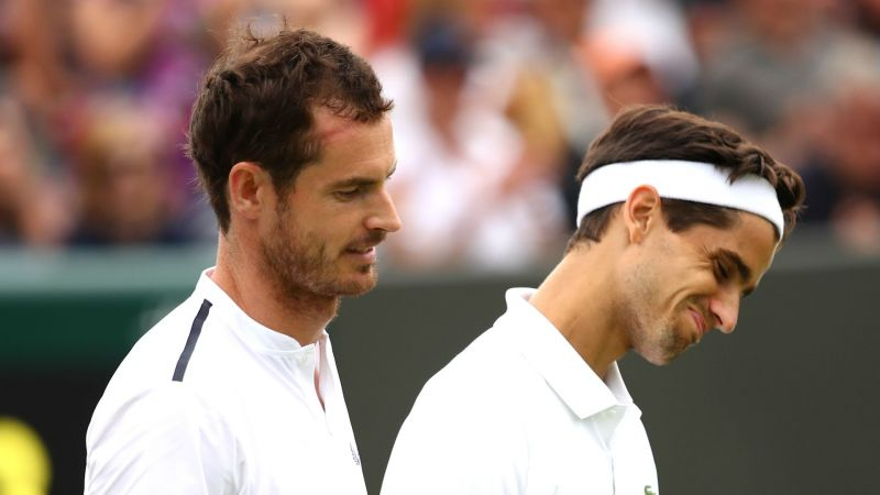 Andy Murray and Pierre-Hugues Herbert