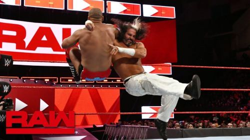 Matt Hardy taking on Scott Dawson on RAW