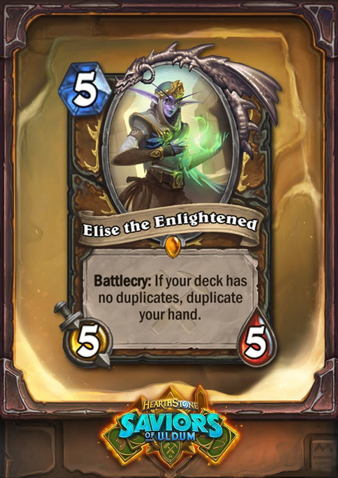Elise is a Druid Legendary this time around