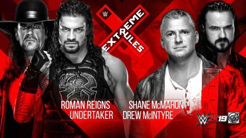 The Deadman returns to help Roman Reigns put Shane McMahon down for good