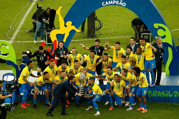 Brazil lifted the Copa America for the 9th time