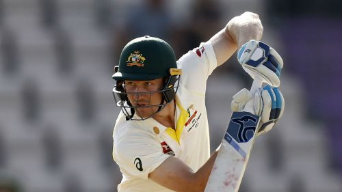 Cameron Bancroft in action for Australia in an Ashes warm-up match
